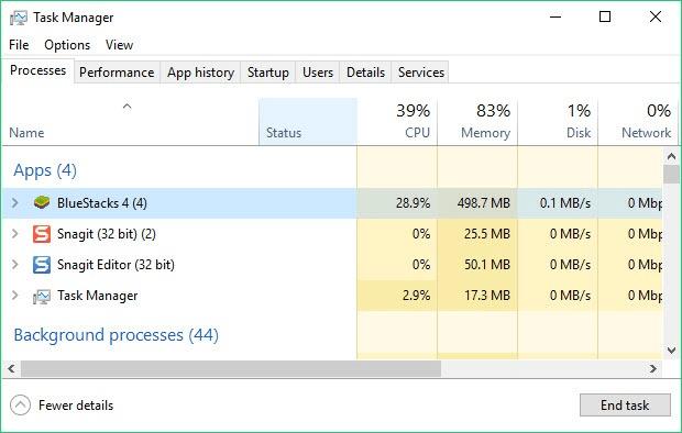 BlueStacks 4:大有改進,8,記憶體使用量最佳化大有進步   BlueStacks