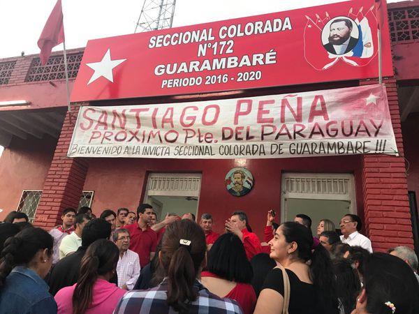Reunión con dirigentes de Central en la Seccional Colorada de Guarambaré