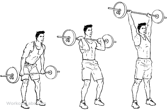 Barbell Clean and Press / Jerk / Overhead Press