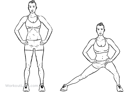 Bodyweight Side Steps / Lateral Lunges