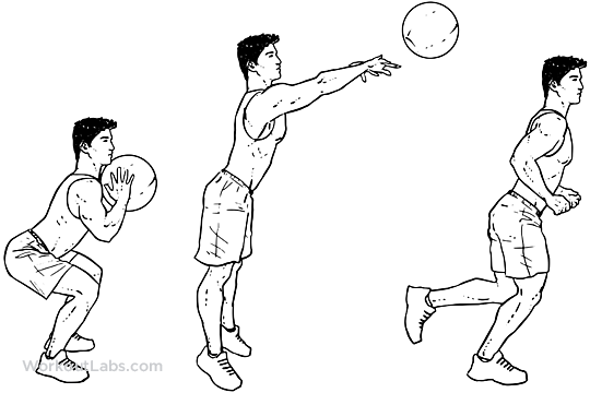 Medicine Ball Throw to Chase