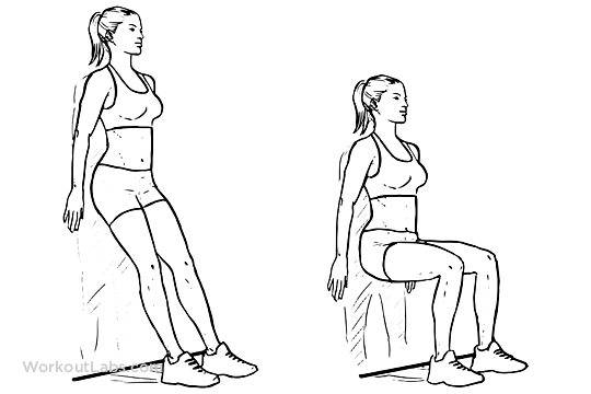 Wall Sit / Squats / Chair