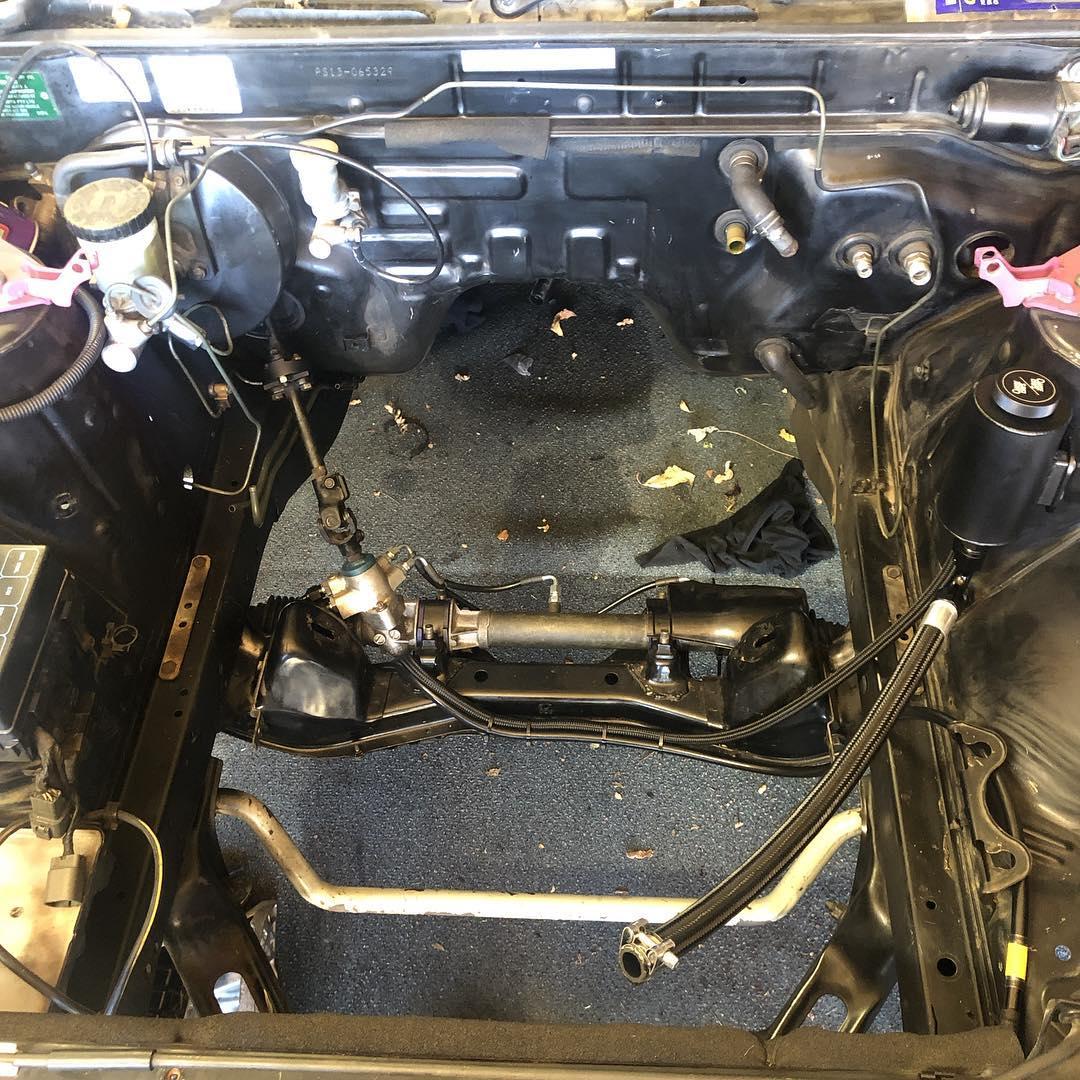 hight resolution of chasebays power steering kit installed chasebays silvia s13 sr20det