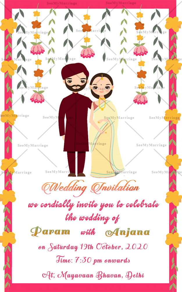 cute indian wedding couple wedding couple theme traditional indian wedding save the date whatsapp invitation