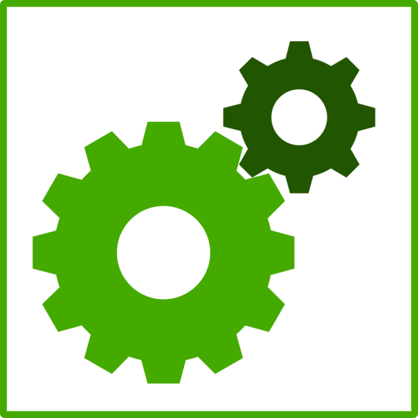 Free Clipart Eco Green Machine Icon Technology