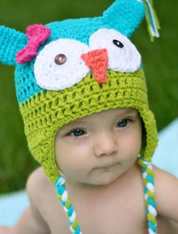 baby owl hat crochet pattern