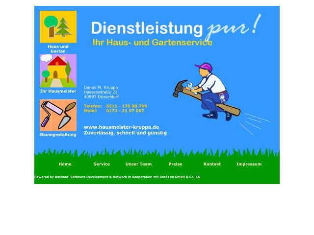 Haus und Gartenservice Daniel M Kruppa  Tel 0211 178087