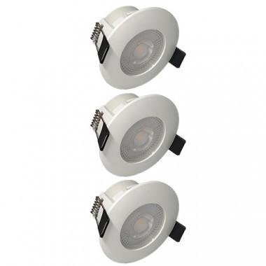 Lot De 3 Spots Led Remplacables Encastrables D80mm 5w Blanc 123elec Com