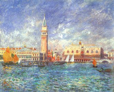 Riproduzione Palazzo Ducale A Venezia di Pierre Auguste Renoir