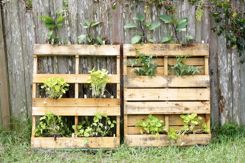 How To Make Your Own Vertical Pallet Garden In Three Easy