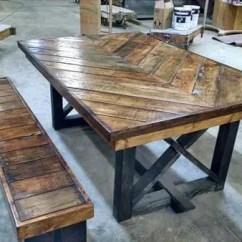 Diy Kitchen Tables 48 Sink Base Cabinet Pallet Chevron Table 101 Pallets