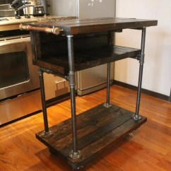 Kitchen Cart Table Ninja System 1200 Pallet Design 101 Pallets Recycled And Iron Pipe