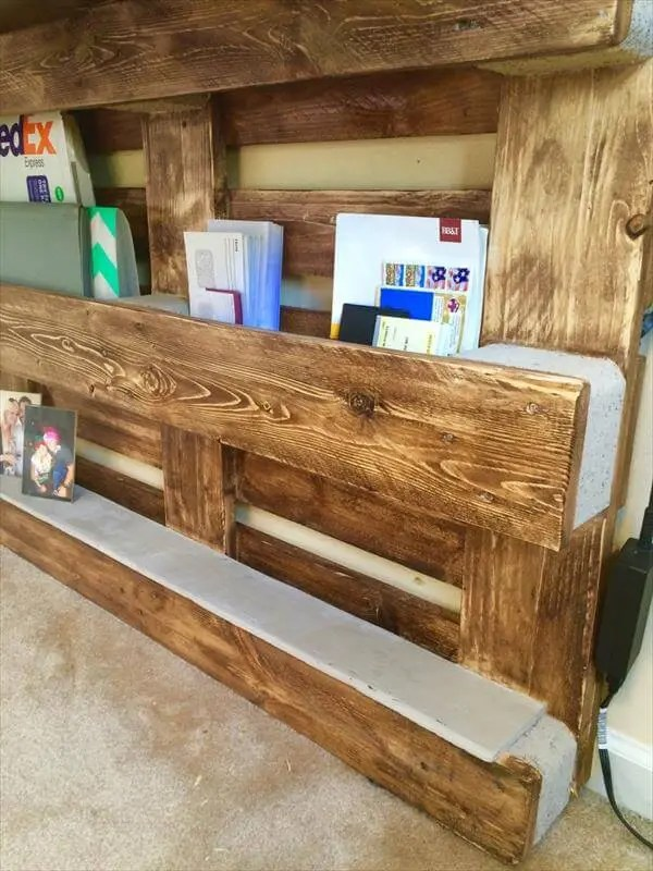DIY Upcycled Pallet Wall Computer Desk  101 Pallets