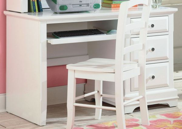 Classic Bayfront White Student Desk - Collection 1