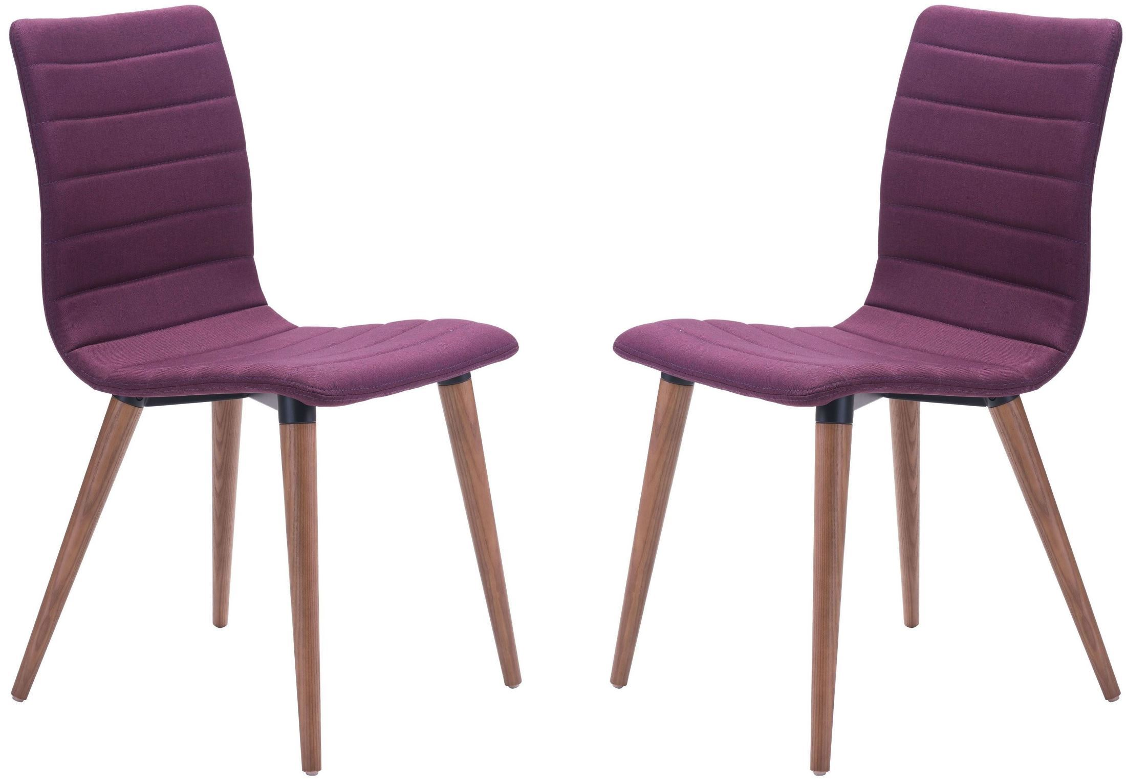 Purple Dining Room Chairs Zuo Modern Jericho Purple Dining Chair Set Of 2 Jericho