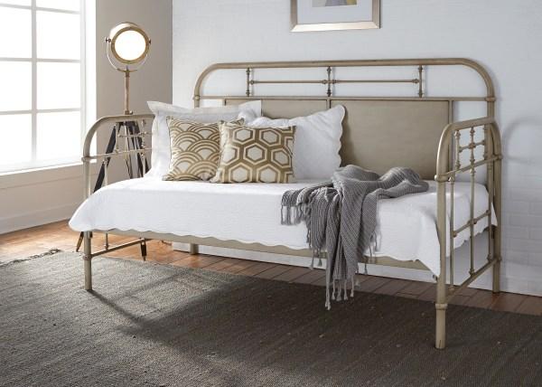 Vintage Enamel White Metal Day Bed