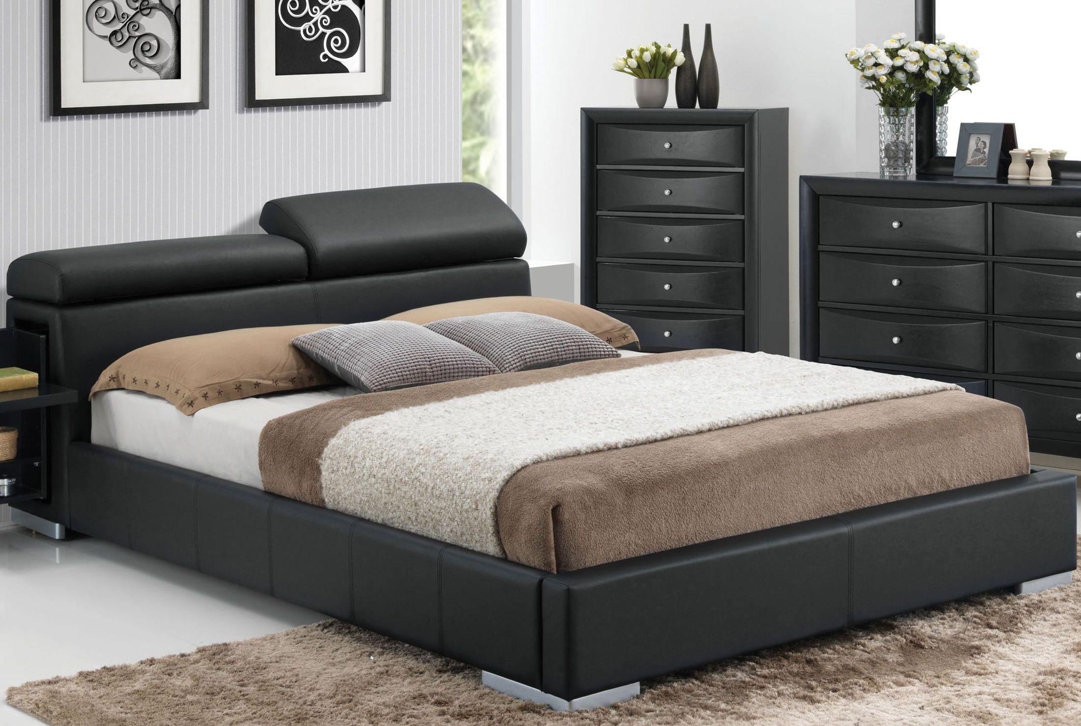 Acme Manjot Black King Hidden Storage Platform Bed