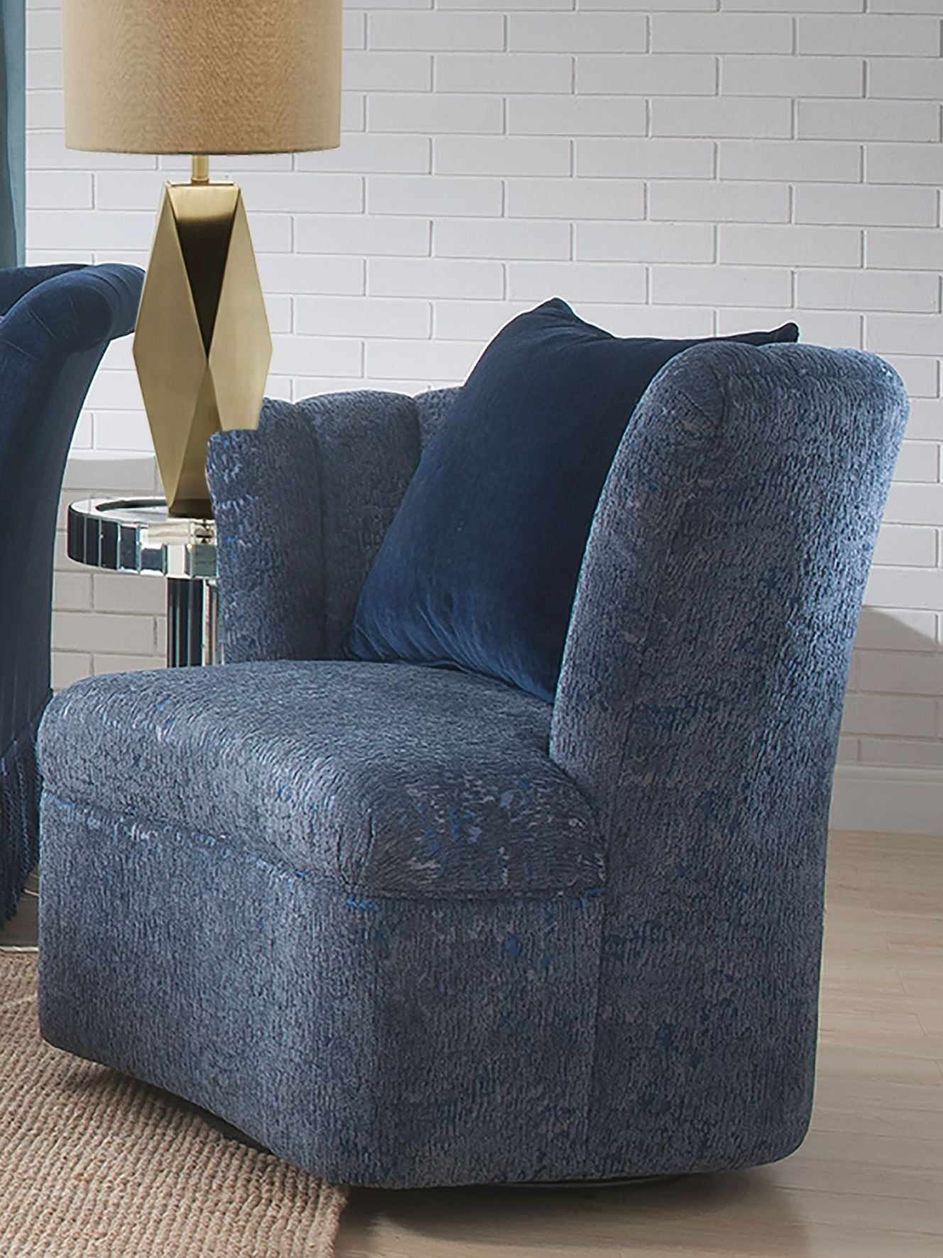 Blue Swivel Chair Acme Kaffir Blue Swivel Chair Kaffir Collection 5