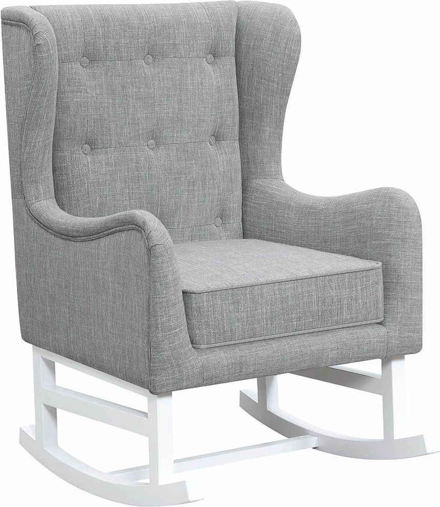 Coaster White And Gray Rocking Chair  White Collection