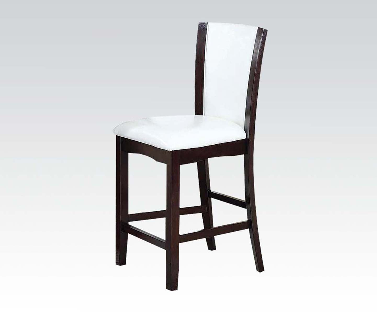 White Counter Height Chairs Acme Acme Furniture Malik Counter Height Chair In Espresso
