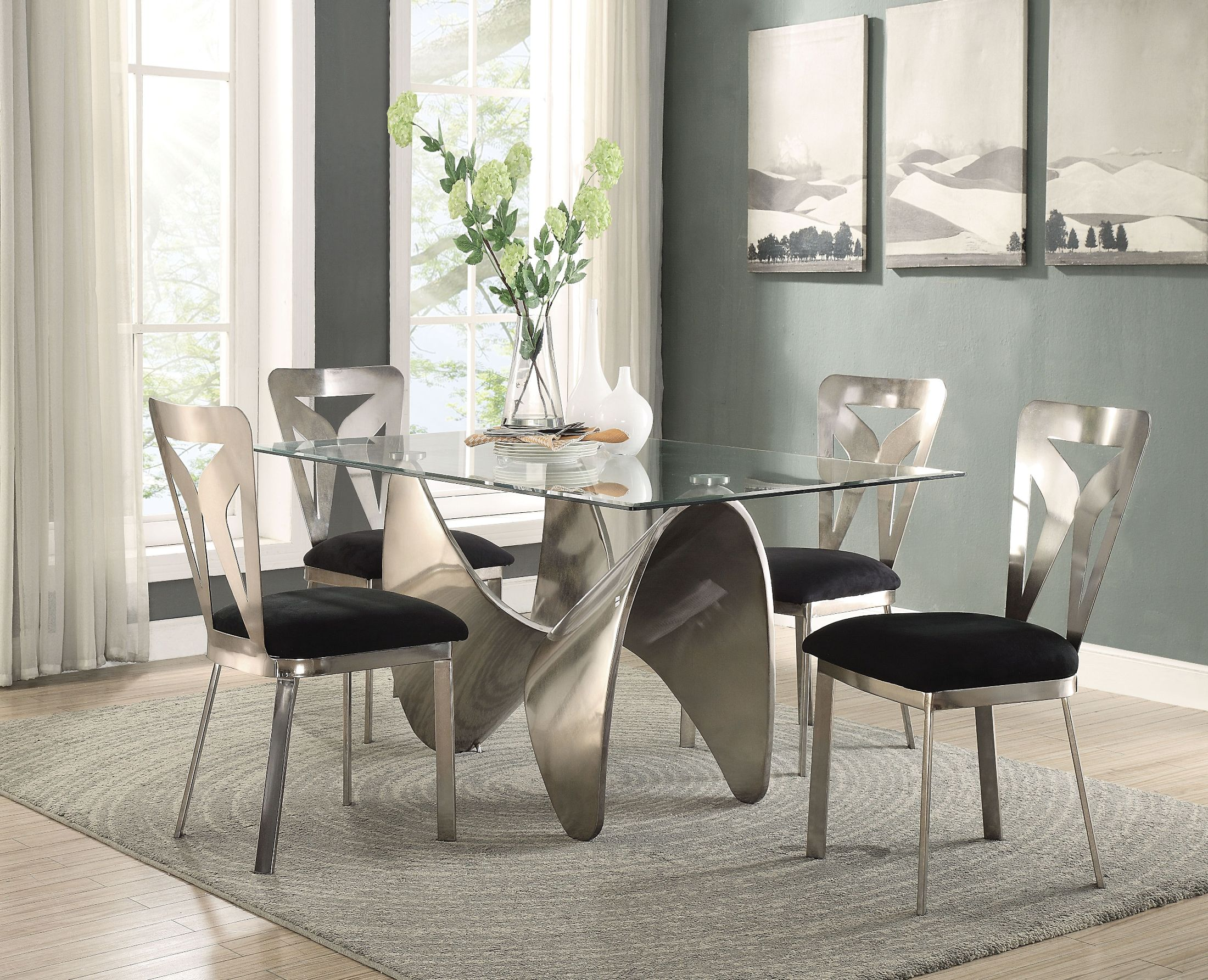 ACME Widforss Antique Silver Dining Room Set  Widforss