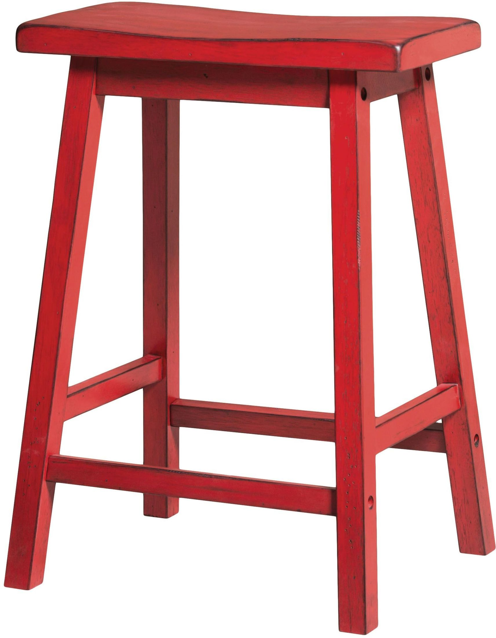 Red Counter Height Chairs Acme Gaucho Antique Red Counter Height Stool Set Of 2