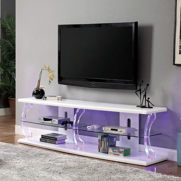 Ernst 60- Tv Stand With Led Lights White - 1stopbedrooms