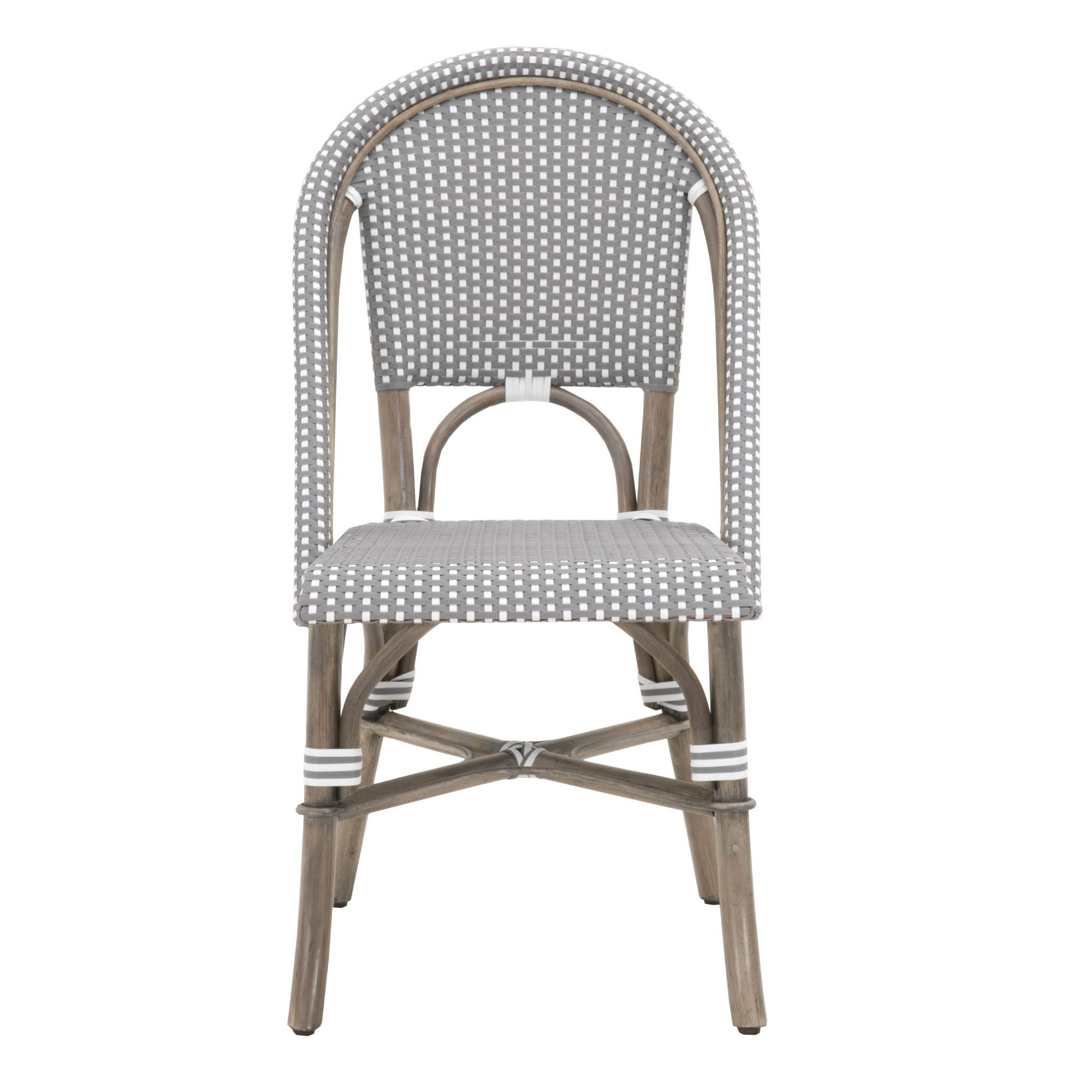 Woven Dining Chair Woven Paris Dining Chair Set Of 2 6857 Ogr Gry Wht