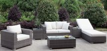Furniture Of America Somani Gray And Ivory Outdoor Living