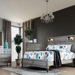 Daphne Gray Upholstered Platform Bedroom Set 1stopbedrooms