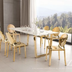 Gold Dining Chairs Aluminium And Tables Zuo Modern Eclispe Chair Set Of 2 Eclipse Collection Media Gallery 7