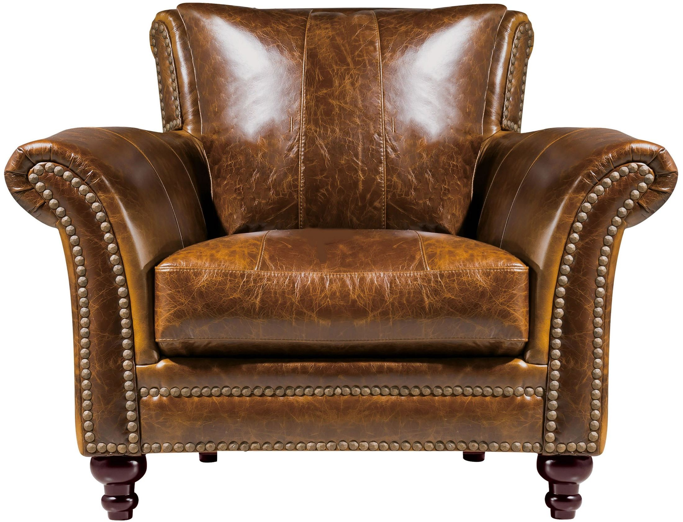 Brown Leather Chairs Georgetowne Butler Brown Leather Chair