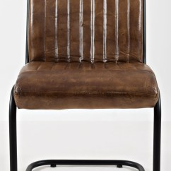 Genuine Leather Chair Dining Covers In Australia Jofran Aviator Brown Set Of 2 Media Gallery