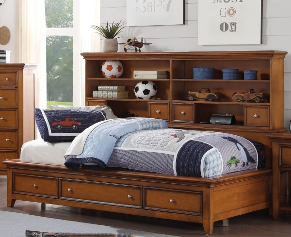Acme Lacey Cherry Oak Full Storage Daybed
