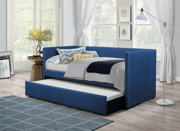 Homelegance Therese Blue Daybed With Trundle
