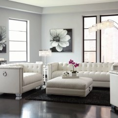 Bedroom And Living Room Sets Grey Curtains For Coaster Chaviano Pearl White Set Collection Media Gallery