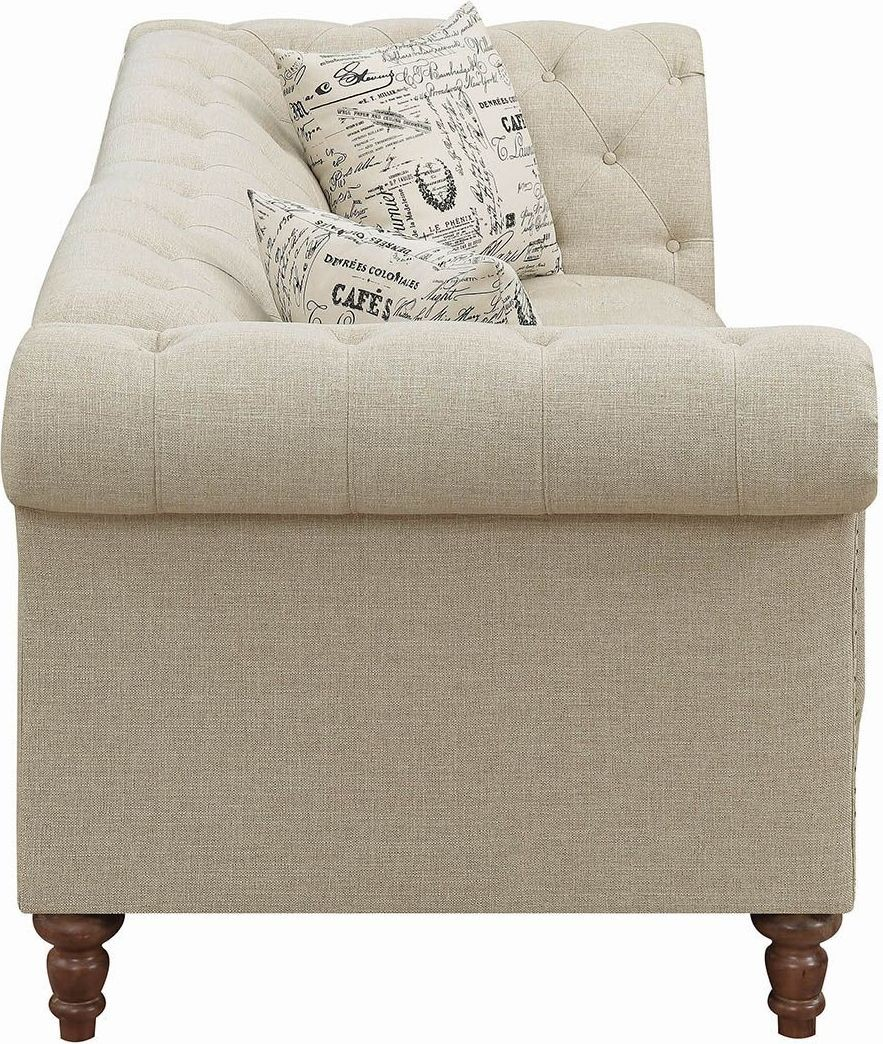 oatmeal sofa sofas for dogs thirkleby coaster josephine collection media gallery 2