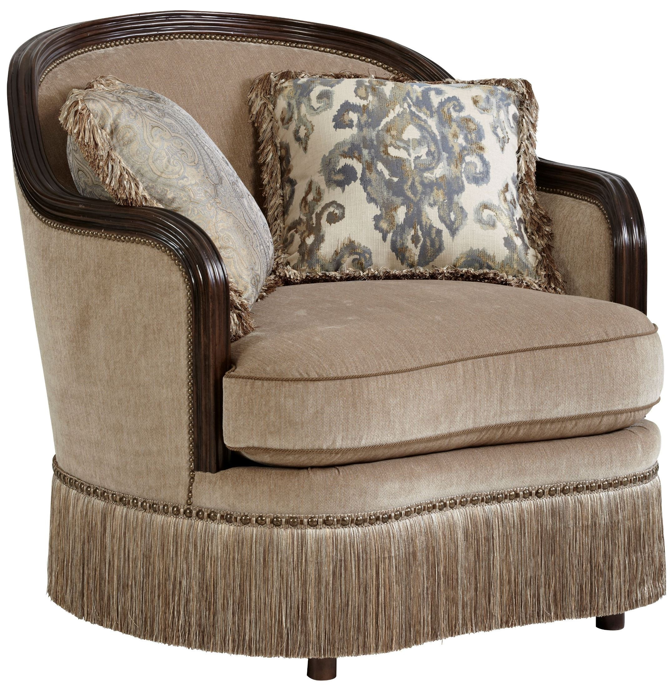 Upholstered Living Room Chairs Giovanna Azure Upholstered Living Room Set
