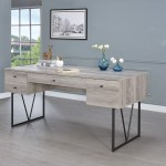 Analiese Gray Driftwood Writing Desk 1stopbedrooms