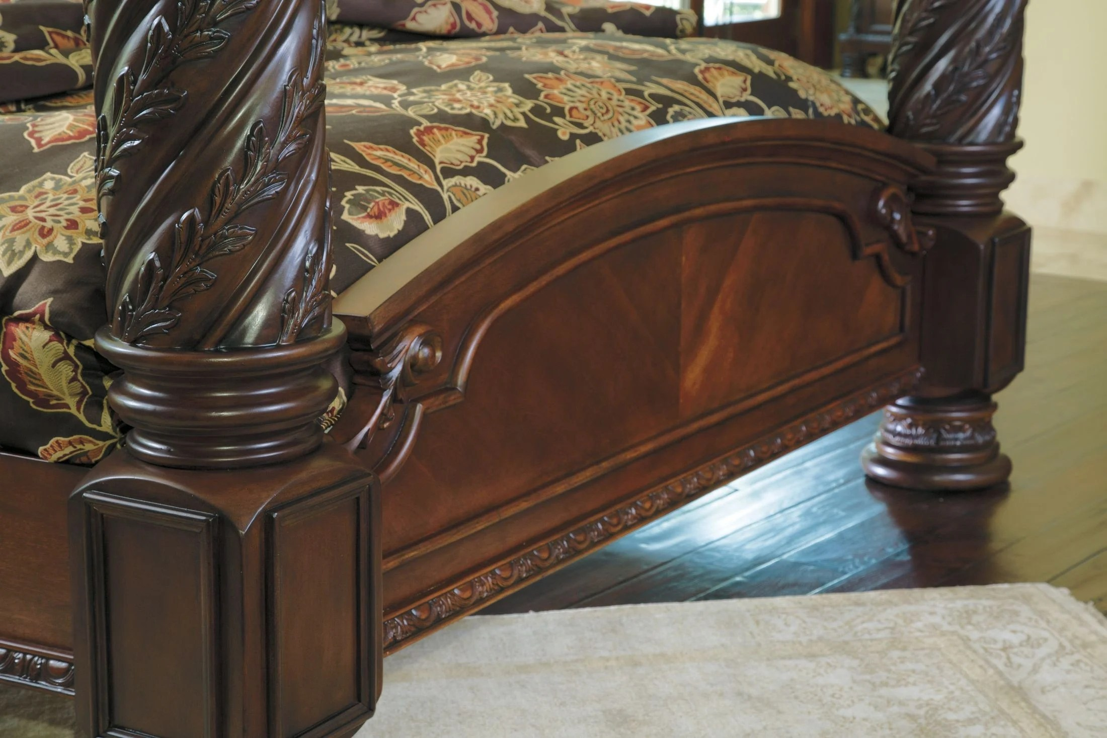 Signature Design By Ashley North Shore Cal King Poster Bed