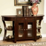 Newell Dark Cherry Console Table 1stopbedrooms