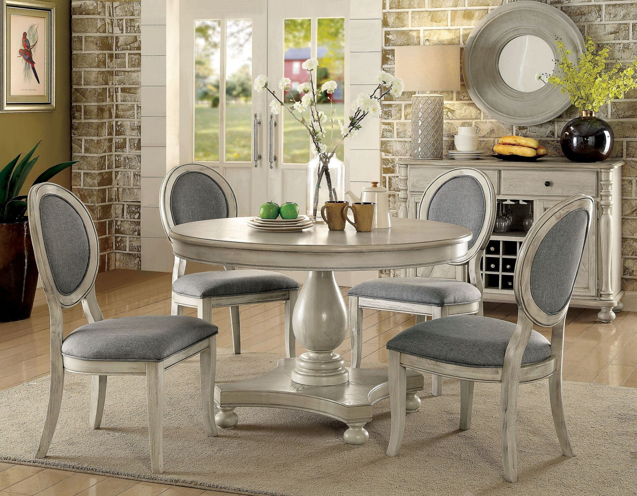 Antique White Dining Chairs Kathryn Antique White Dining Room Set