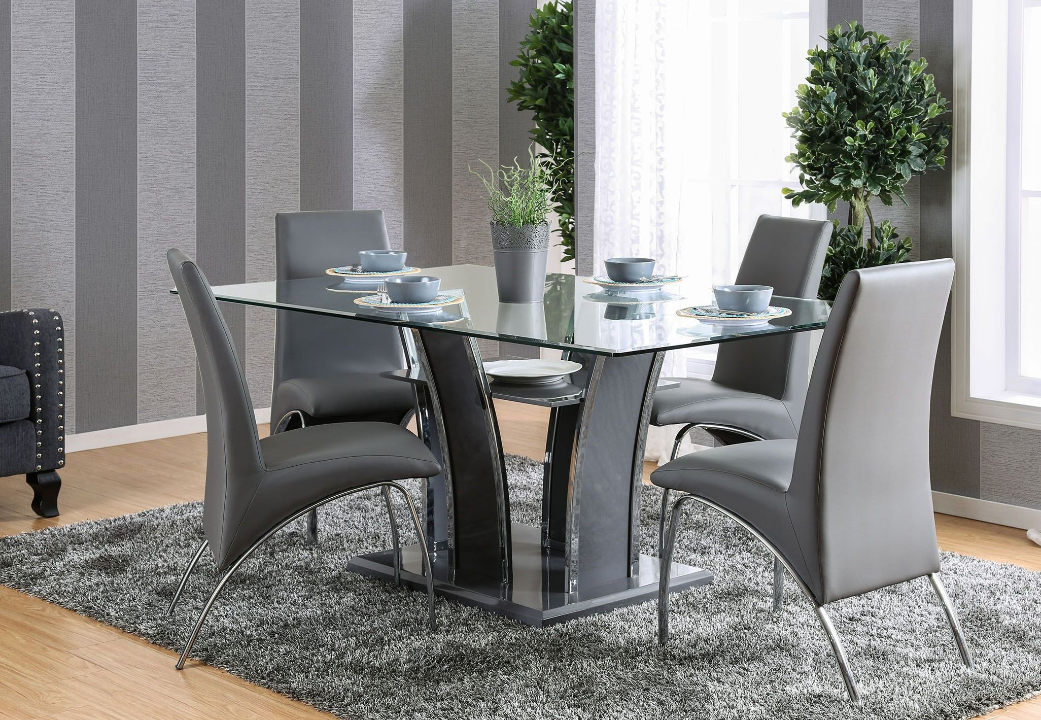 Glenview I Gray Rectangular Dining Room Set 1stopbedrooms