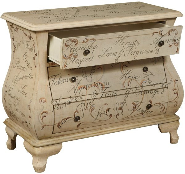 Hand Painted Bombe Accent Chest - 1stopbedrooms