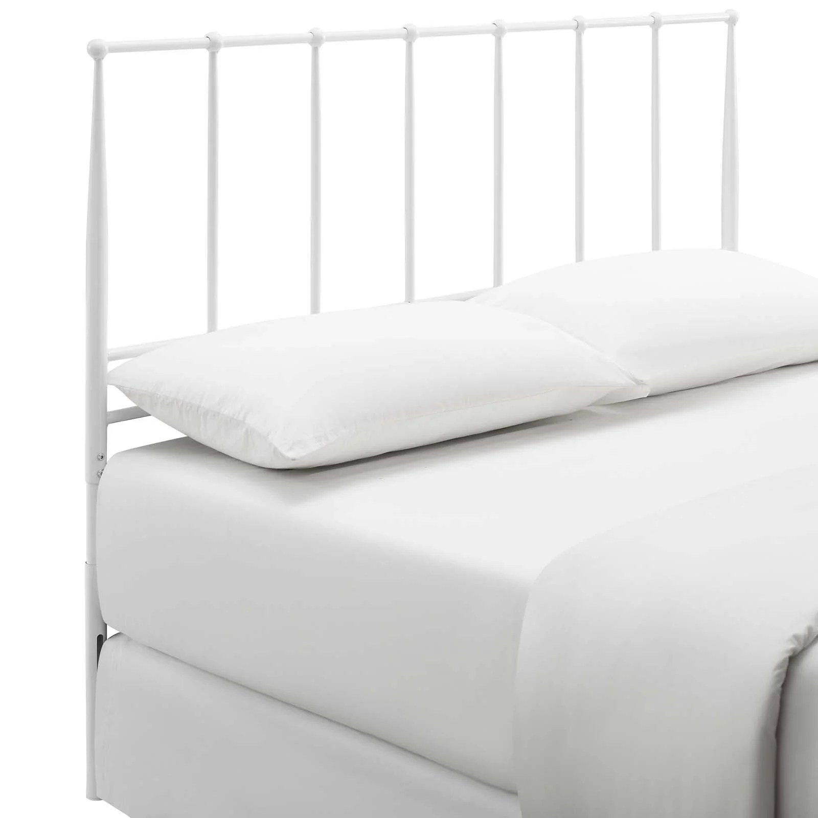 Kiana White Queen Metal Stainless Steel Headboard Mod 6105 Whi 1stopbedrooms