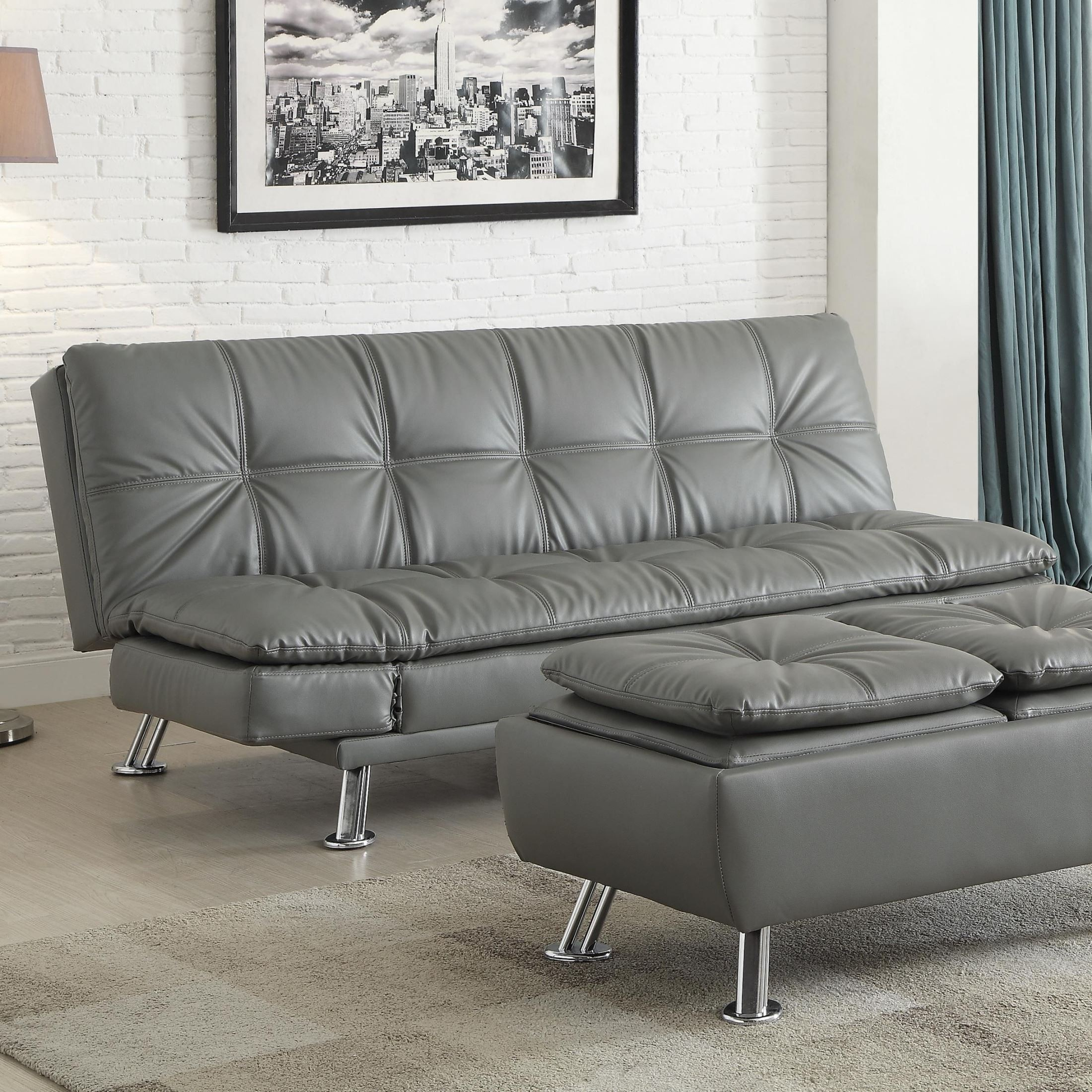 futon style living room chaise in coaster dilleston set collection sofa bed