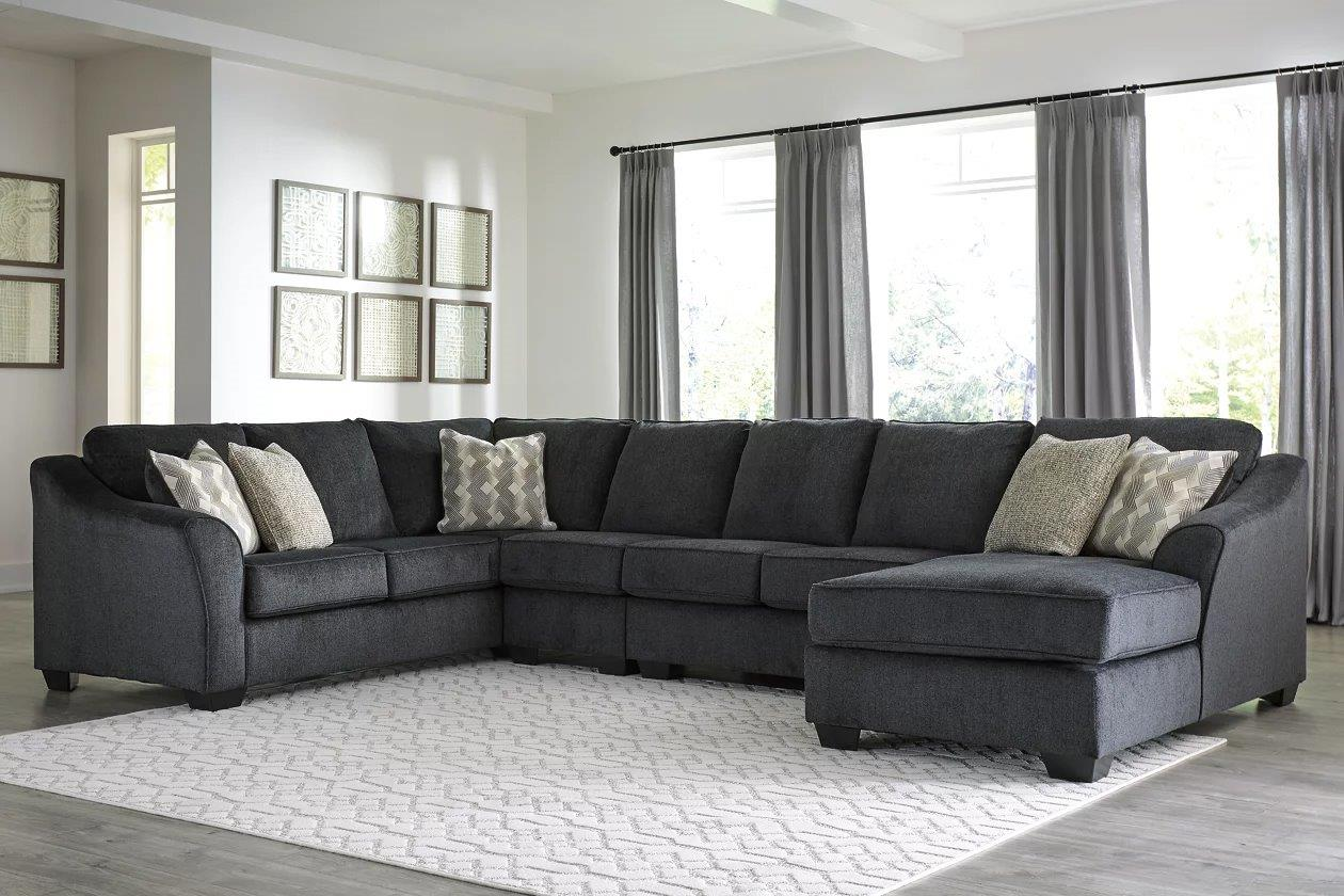 eltmann slate raf chaise large sectional by ashley
