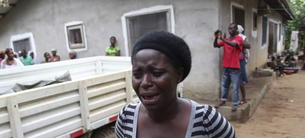 Muerte por ébola en Monrovia (Liberia).