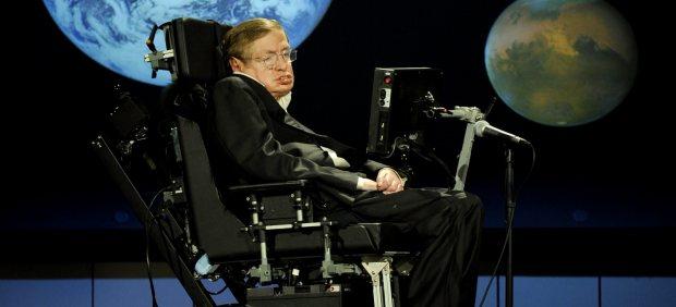 Stephen Hawking en la Universidad de Cambridge