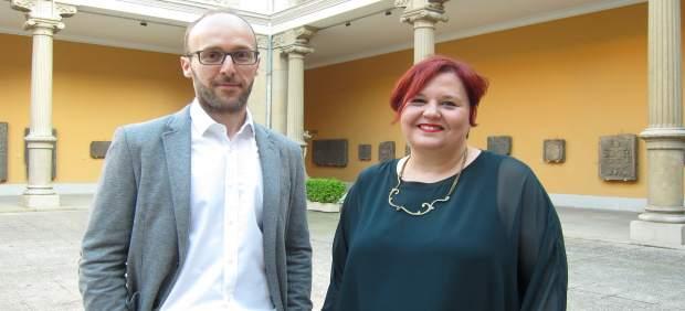 Lara Albuixech y Rafael Gelo, esta tarde en el Museo de Zaragoza